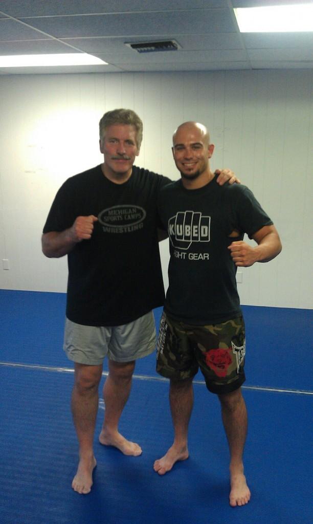 Charlie Cosens with Dan Severn